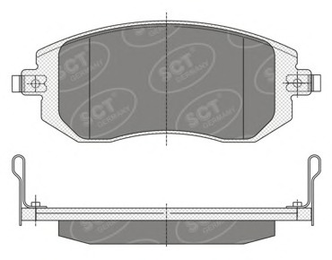 SP340 SCT Тормозные колодки (комплект 4 шт.)