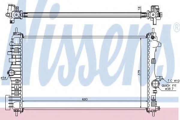 630718 NISSENS Радиатор, охлаждение двигателя