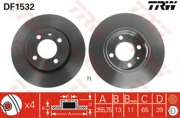 DF1532 TRW Диск тормозной