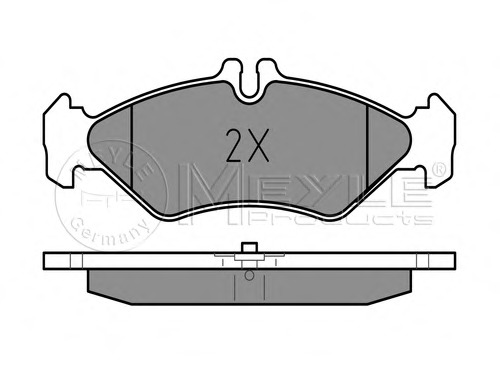 0252162117 MEYLE Колодки тормозные MBVW SPRINTERLT -06 задн.