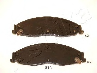5000014 ASHIKA Комплект тормозных колодок, дисковый тормоз