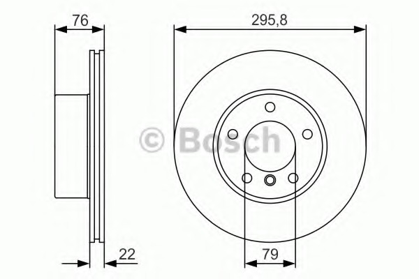0986479R72 BOSCH диск тормозной