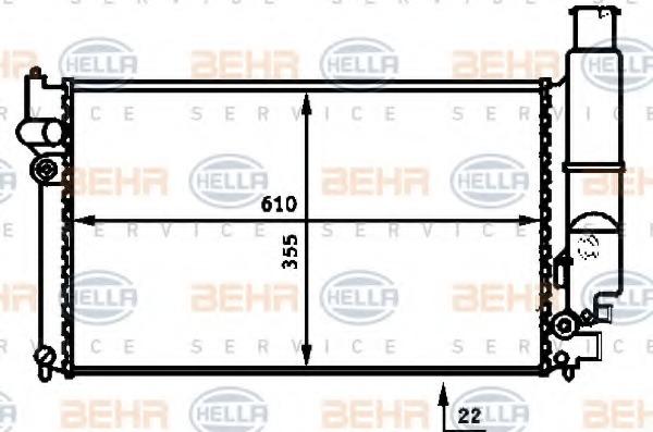 8MK376717331 HELLA Радиатор системы охлаждения