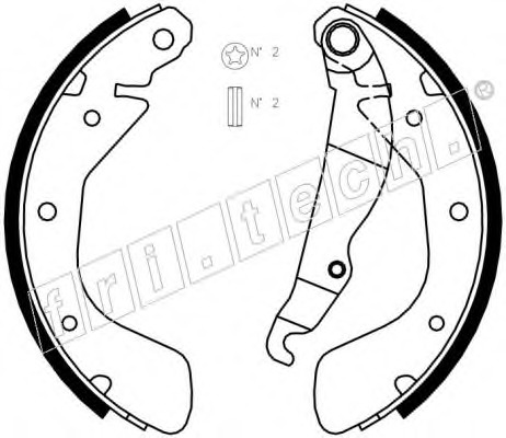 1073167 FRI.TECH. Комплект тормозных колодок