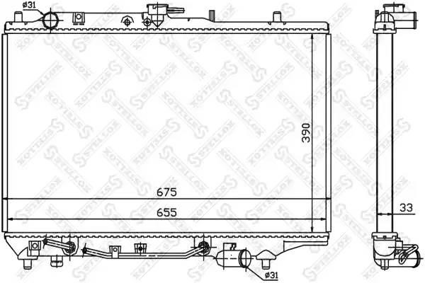 1025832SX STELLOX Радиатор