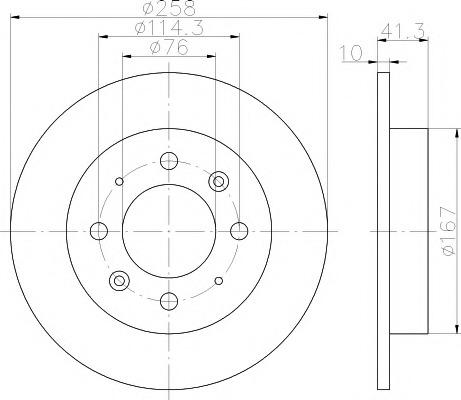 92134300 TEXTAR Тормозной диск