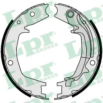 01062 LPR Комплект тормозных колодок, стояночная тормозная система