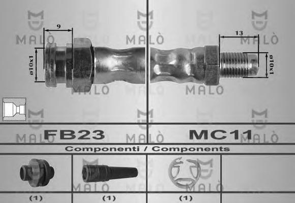 80189 MALO Тормозной шланг