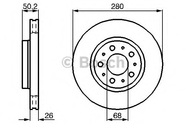 0986478603 BOSCH Тормозной диск