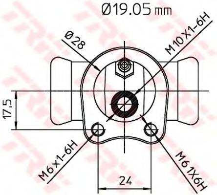 BWD119 TRW Колесный тормозной цилиндр