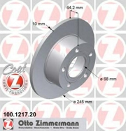 100121720 ZIMMERMANN Тормозной диск