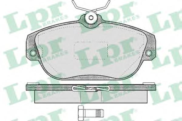 05P601 LPR Комплект тормозных колодок, дисковый тормоз