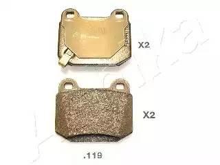5101119 ASHIKA Комплект тормозных колодок, дисковый тормоз