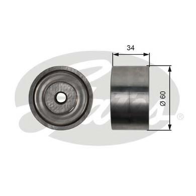 T36480 GATES Паразитный / ведущий ролик, поликлиновой ремень