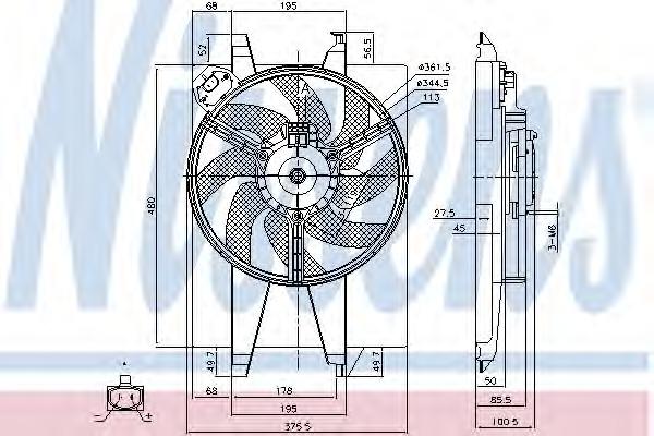 85767 NISSENS Вентилятор, охлаждение двигателя