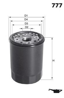 Масляный фильтр MECAFILTER ELH4256