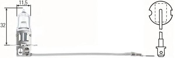 8GH002090371 HELLA Лампа галогеновая Hella H3 PK22s 12V 55W  1 шт.