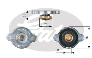 Крышка, радиатор GATES RC133