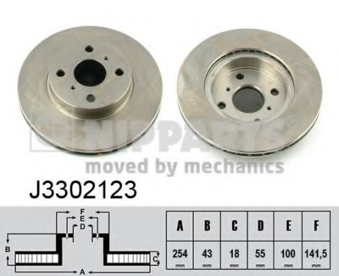 J3302123 NIPPARTS Тормозной диск