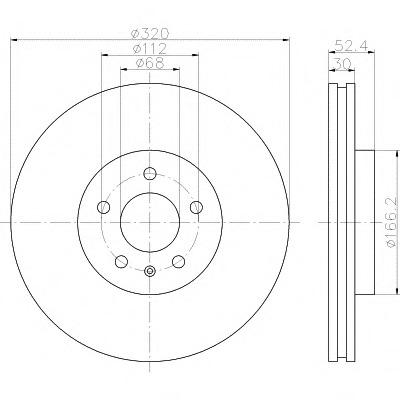 92160003 TEXTAR Тормозной диск
