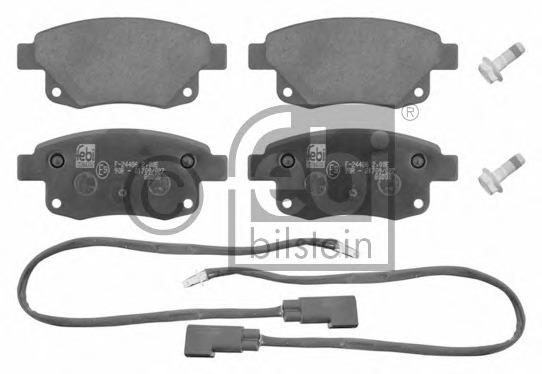 16701 FEBI Колодки тормозные дисковые задние, комплект