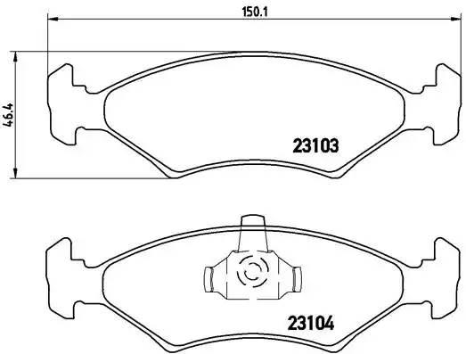 P24043 BREMBO Комплект тормозных колодок, дисковый тормоз