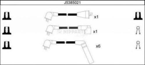 J5385021 NIPPARTS Комплект проводов зажигания