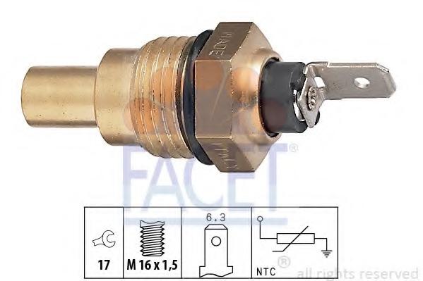73041 FACET Температурный датчик охлаждающей жидкости