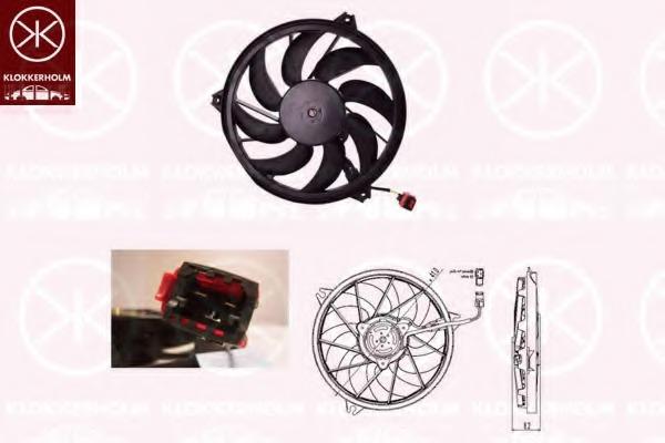 5507307525 KLOKKERHOLM Вентилятор радиатора