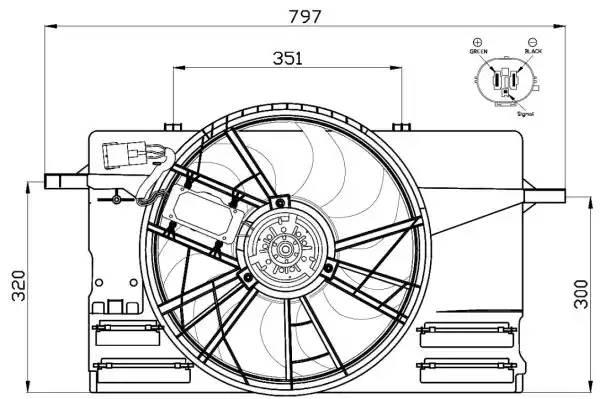 47412 NRF Вентилятор, охлаждение двигателя