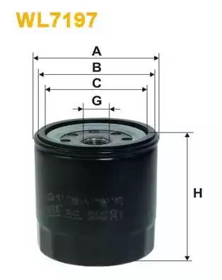 WL7197 WIX FILTERS Масляный фильтр