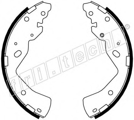 Комплект тормозных колодок FRI.TECH. 1040157