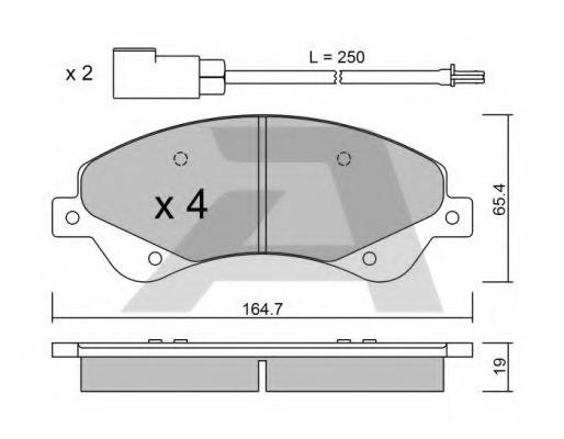 BPFO1013 AISIN Колодки тормозные дисковые