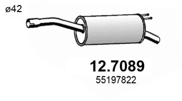 127089 ASSO Гл зд ч Fiat Doblo 1.4-1.9D 01->