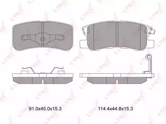 BD5507 LYNX Колодки тормозные задние