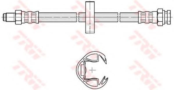 PHB302 TRW/LUCAS Тормозной шланг