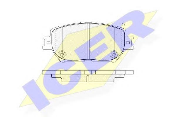 181689 ICER Комплект тормозных колодок, дисковый тормоз