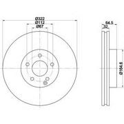 92163403 TEXTAR Диск тормозной TEXTAR