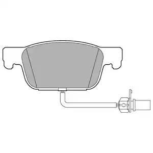 LP3219 DELPHI Комплект тормозных колодок, дисковый тормоз