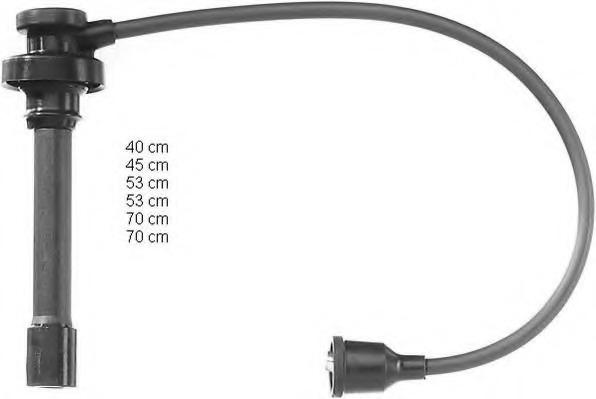 ZEF885 BERU Комплект проводов зажигания