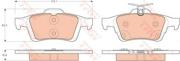 GDB1938 TRW Комплект тормозных колодок, дисковый тормоз