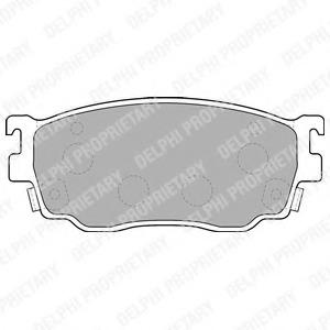 LP1527 DELPHI Комплект тормозных колодок, дисковый тормоз