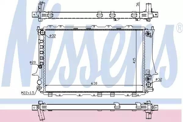 60480 NISSENS Радиатор, охлаждение двигателя
