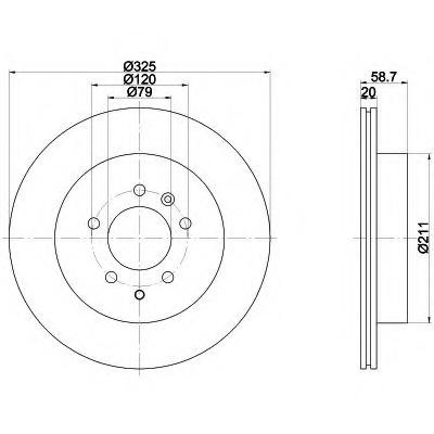 8DD355112841 HELLA Тормозной диск