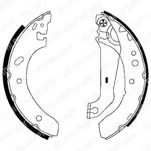 LS1783 DELPHI Комплект тормозных колодок