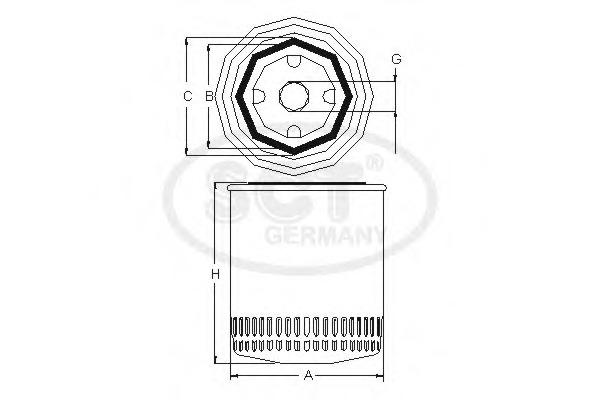 Масляный фильтр SCT SM112