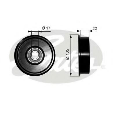 T36228 GATES Натяжной ролик привода вспомогательных агрегатов