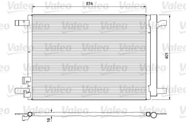 814375 VALEO Радиатор кондиционера
