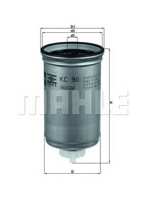 KC90 KNECHT Фильтр топливный