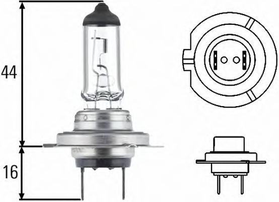 "Лампа галоген"" H7"" 12В 55Вт HELLA 8GH007157181"